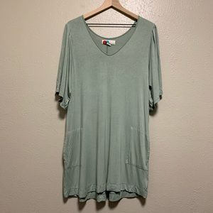 Free People Beach green tunic dress with pockets